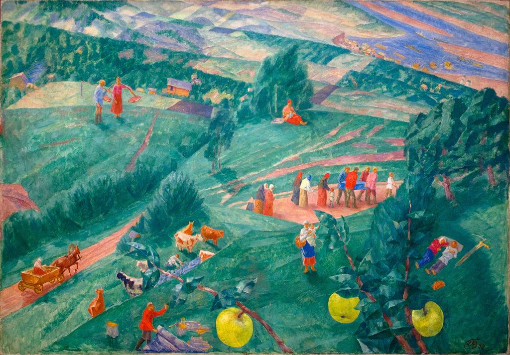 Творчество Петрова-Водкина на уроке ИЗО - частная школа Ступени