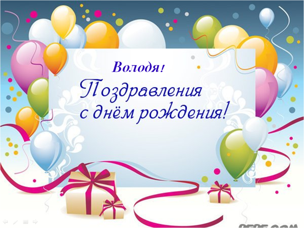 Открытка для поздравления с днем рождения шаблон