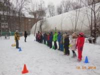 Спортивный праздник в начальной школе«Быстрые санки»